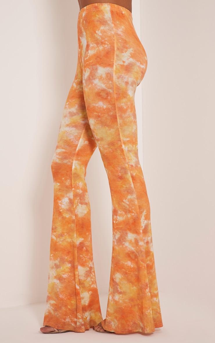Jaida Orange Tie Dye Flares 5