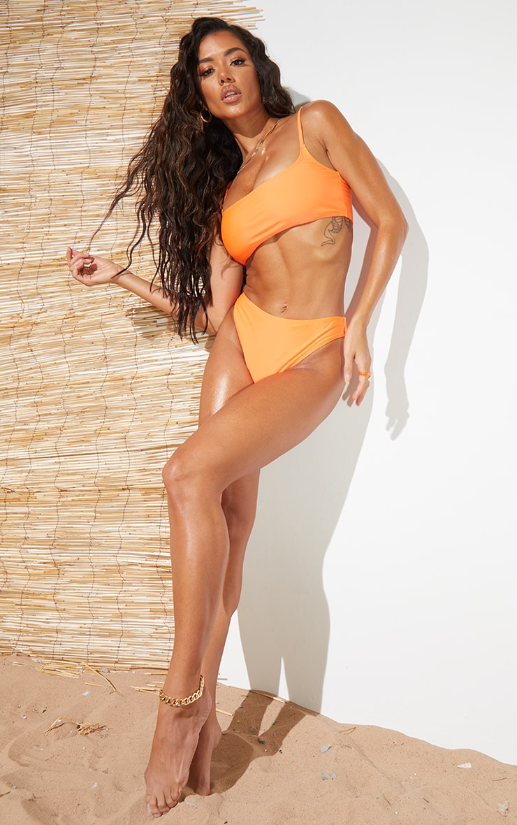 Recycled Orange Mix & Match Cheeky Bum Bikini Bottoms 3