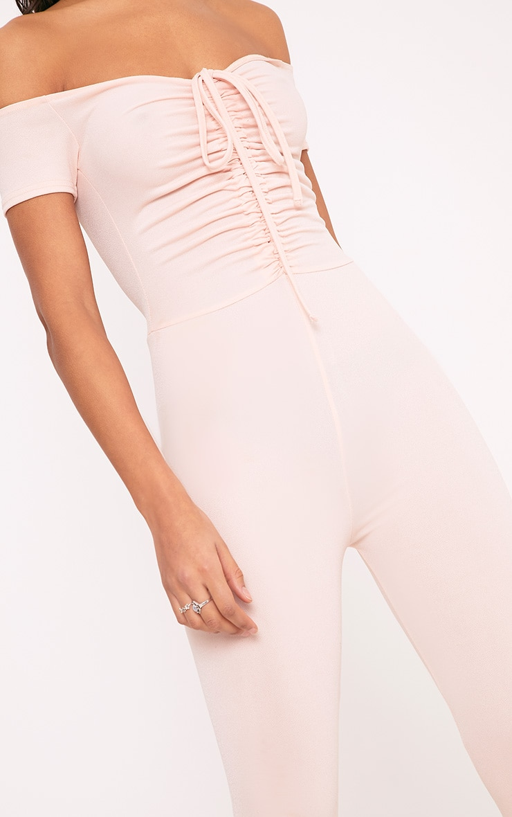 Jazlyn Nude Ruched Front Jumpsuit 6