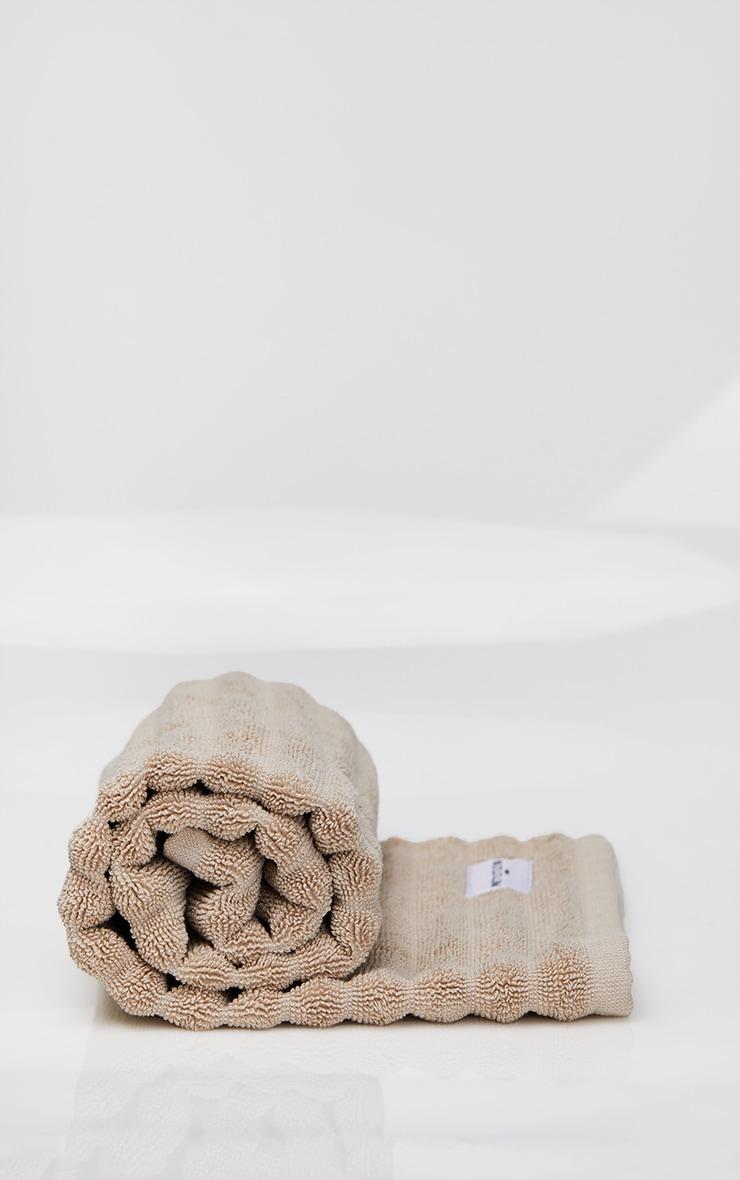 Natural Textured Ribbed Bath Mat 3