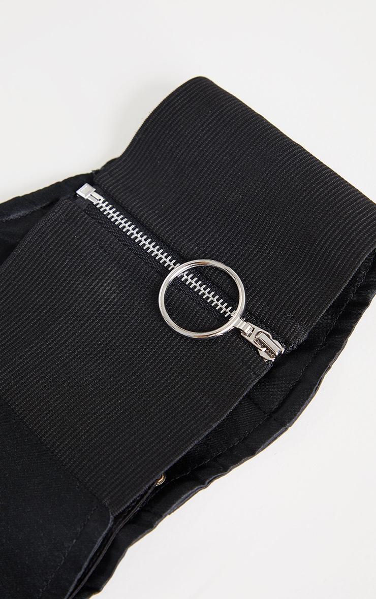 Black Triple Lace Up Corset Belt 4