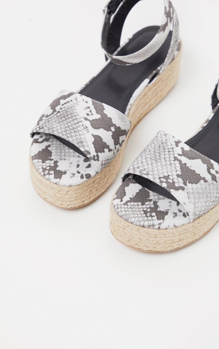 Snake Espadrille Flatform Sandal 4