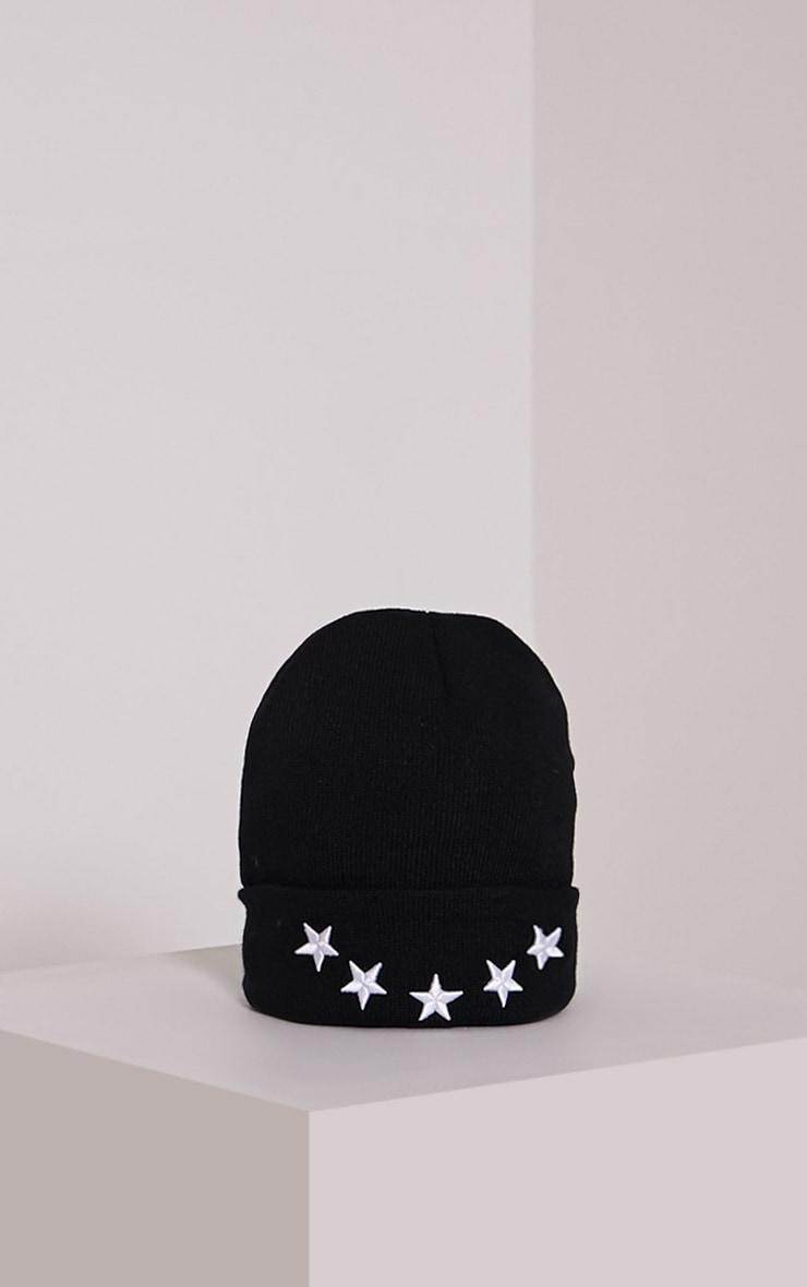 Star Black Beanie Hat 3