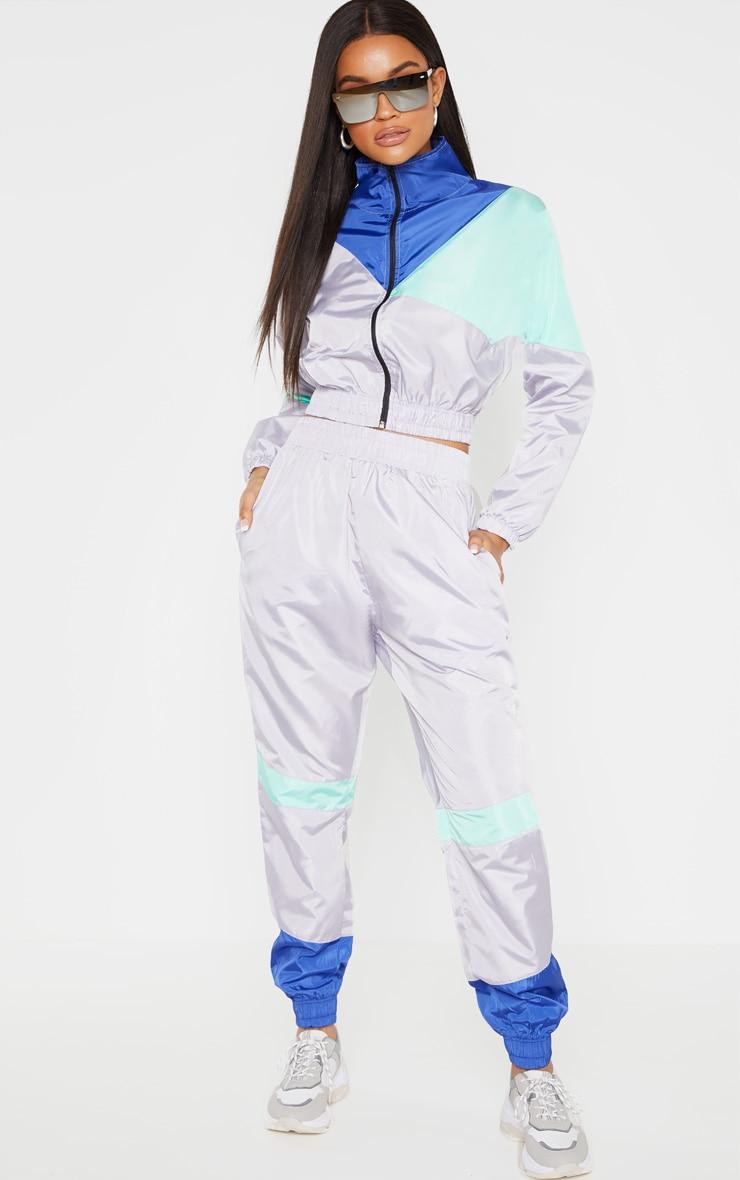 Grey Color Block Tracksuit Jacket 4
