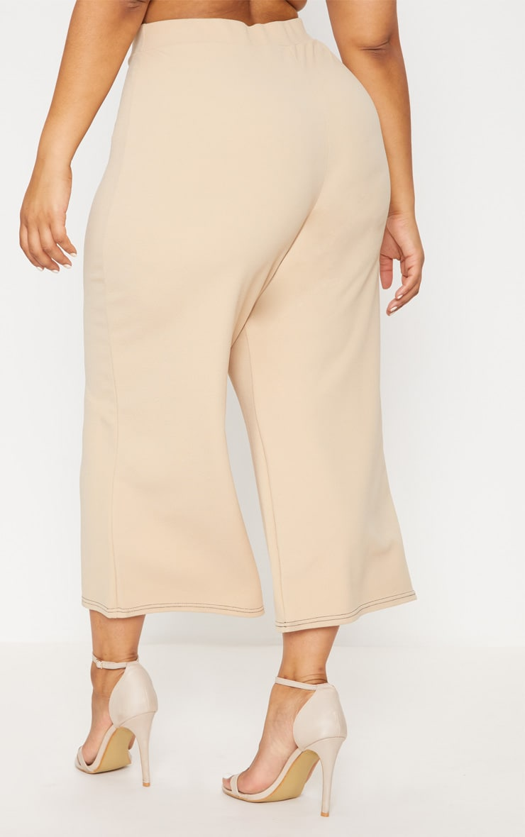 Plus Stone Stitch Detail Culottes 4