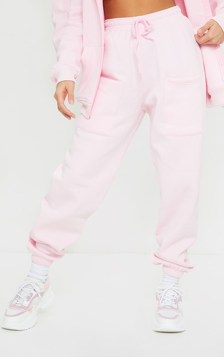Petite Pink Pocket Thigh Casual Joggers 2