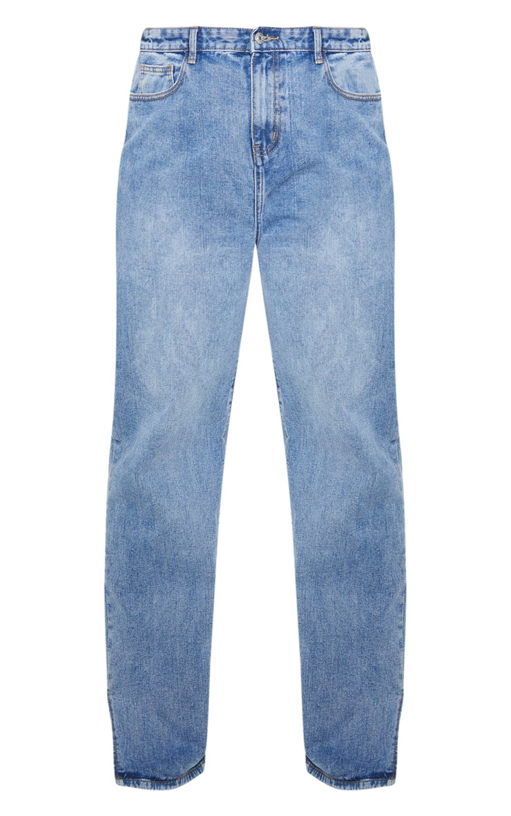 Plus Mid Wash Split Hem Jean  3