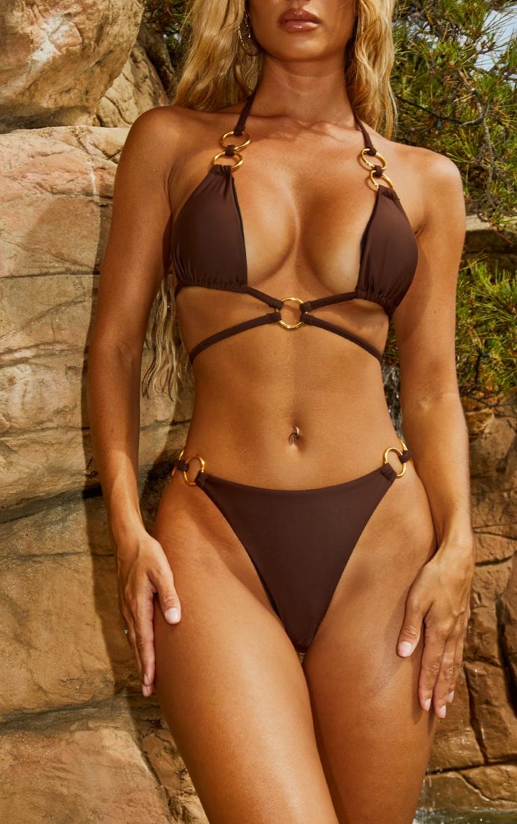 Chocolate Ring Side Bikini Bottoms 1