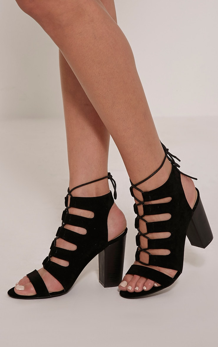 Emerson Black Cut Out Sandals 1