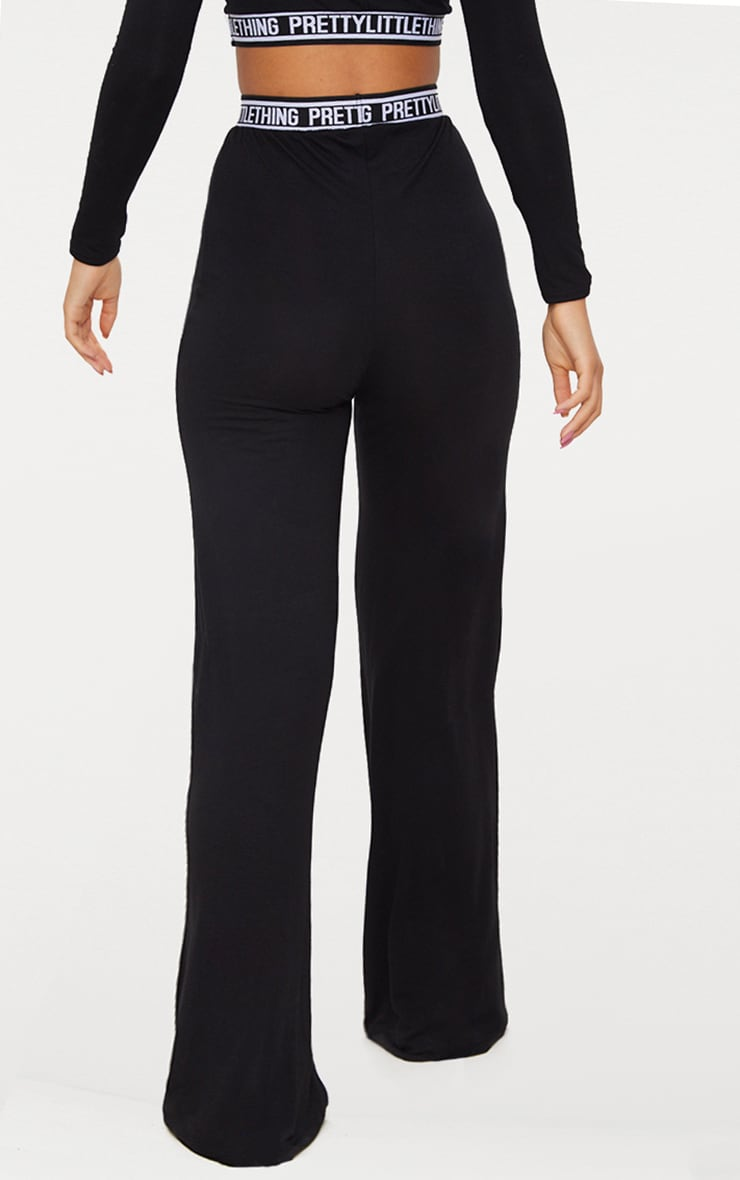 PRETTYLITTLETHING Black PJ Pants 4
