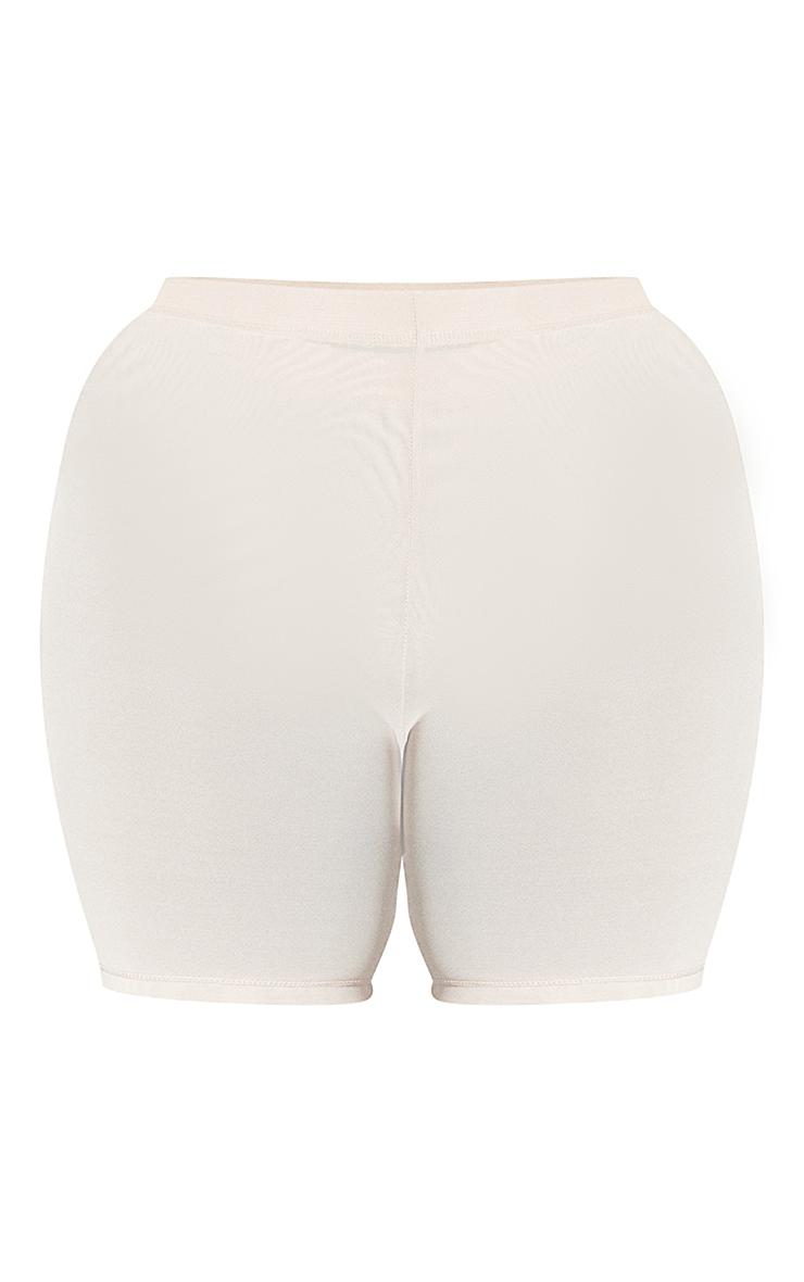 PLT Plus Seconde Peau - Short de lingerie en mesh vanille à taille haute 6