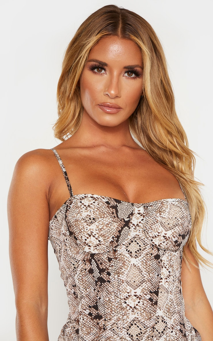 Snake Structured Corset Top 5