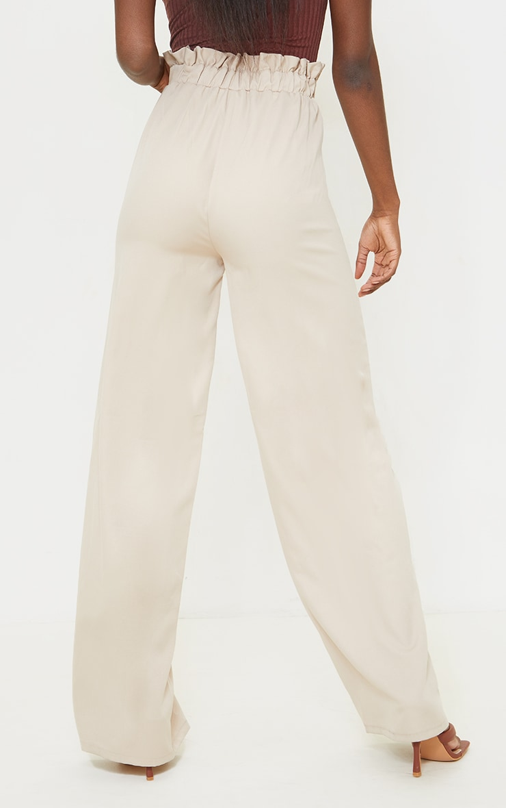 Tall Grey Ruched Waist High Waisted Leg Pants 3