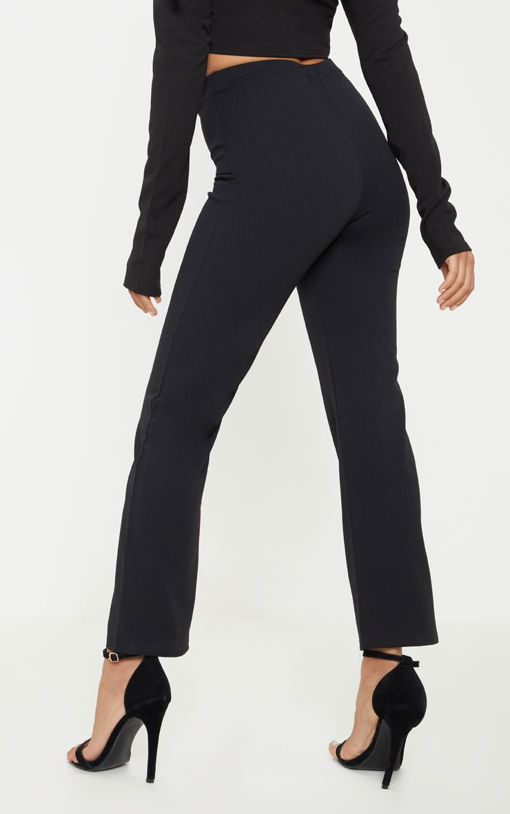 Petite Black Cropped Trousers 4