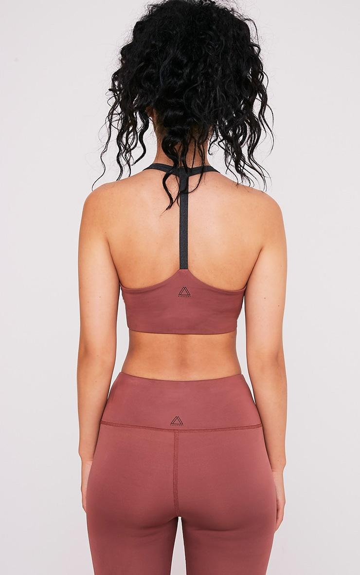 Lillie soutien-gorge de sport avec dos en T couleur vison 2