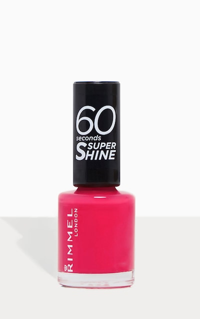 Rimmel 60 Seconds Super Shine Nail Polish Funtime Fuchsia