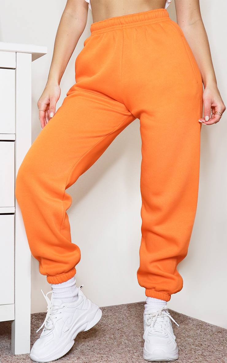 Bright Orange Casual Joggers 2