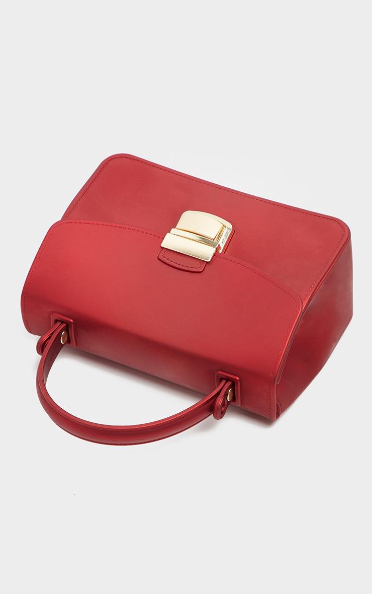 Red Matte Finish Mini Bag 2