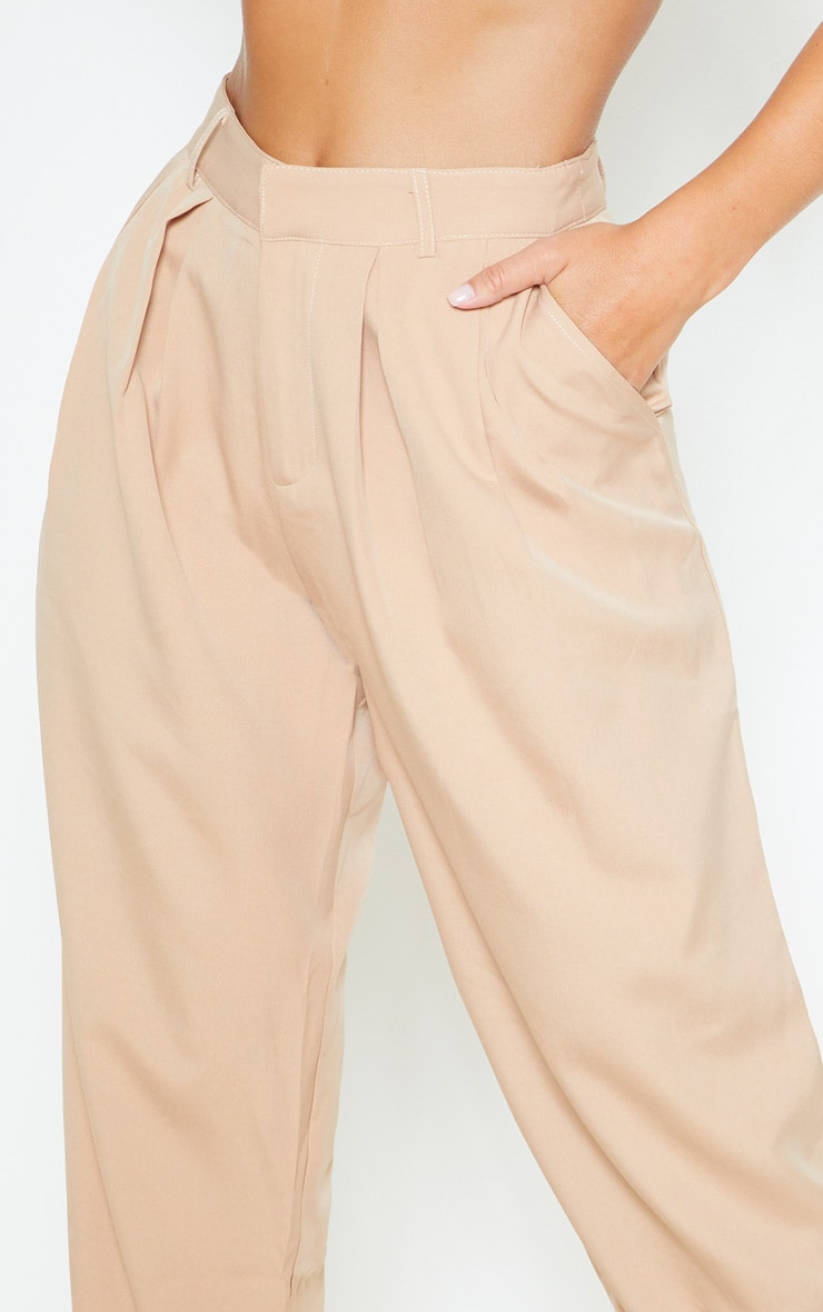 Camel Woven High Waisted Cigarette Pants  5