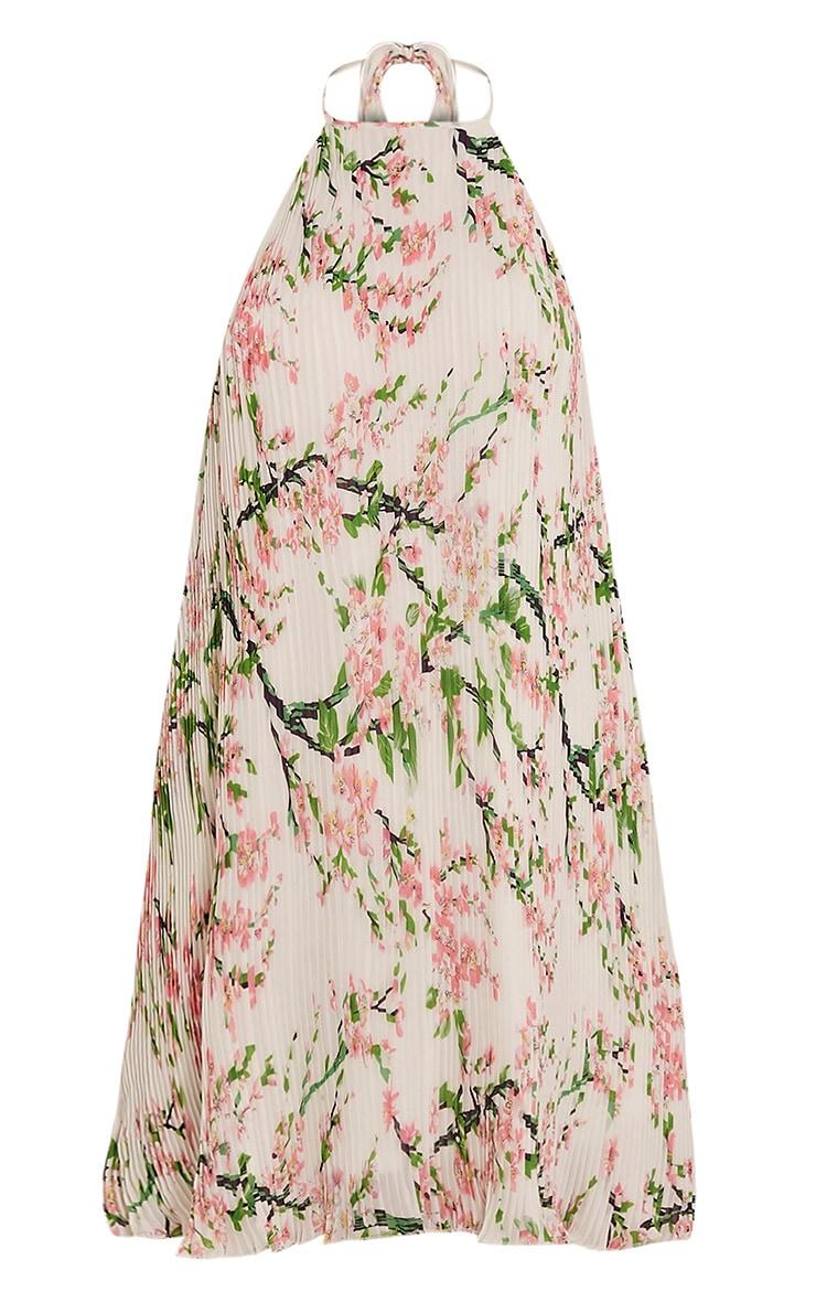 Melissa White Oriental Pleated Swing Dress 3