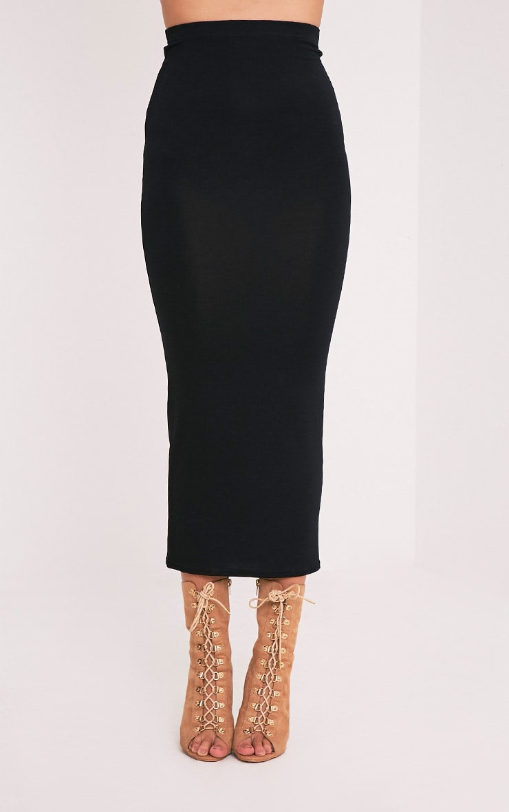 Basic Black Midaxi Skirt 2