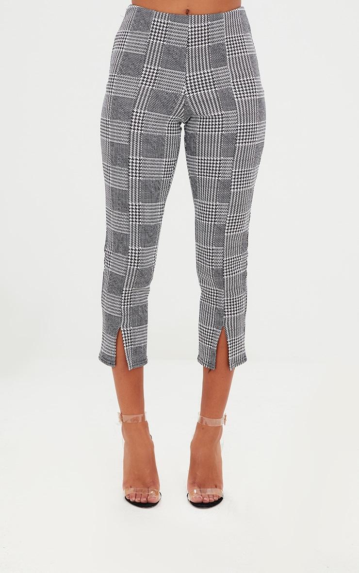 Petite Check Split Hem Trousers 2
