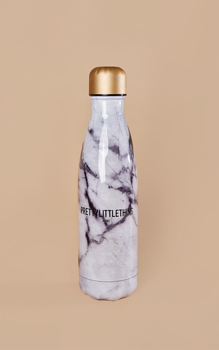 PRETTYLITTLETHING Grey Marble Bottle 1