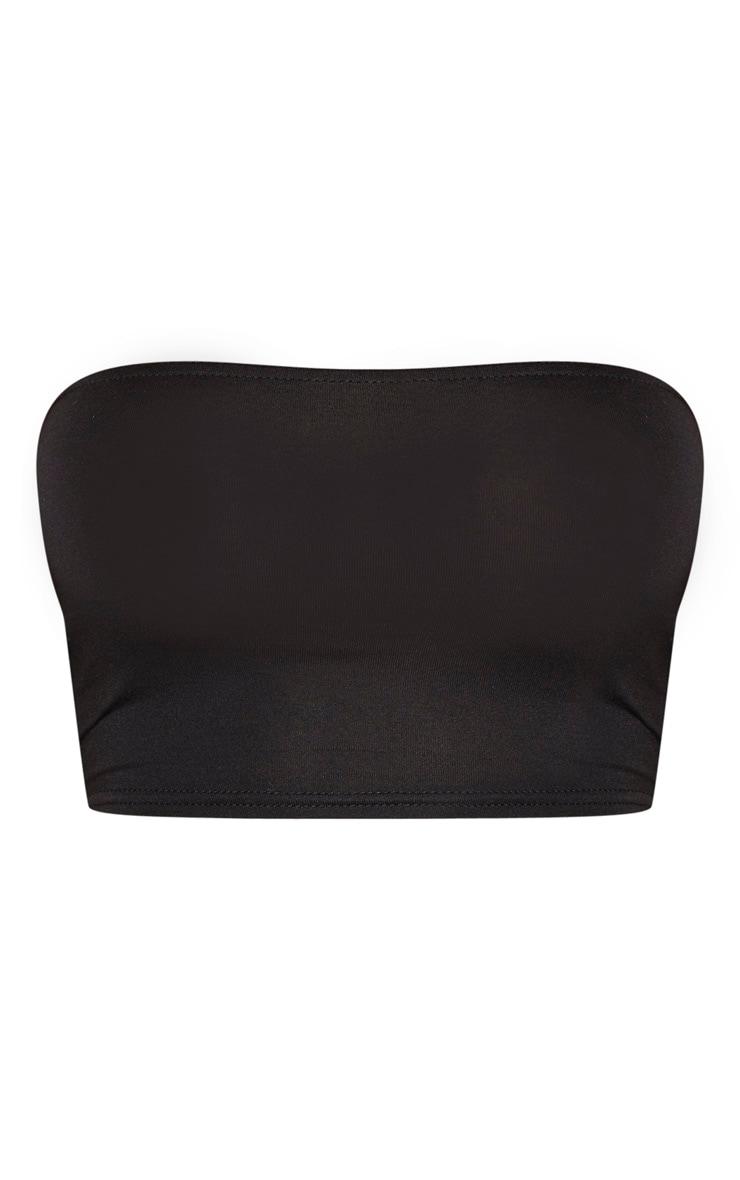 Shape Black Jersey Bandeau Crop Top 3