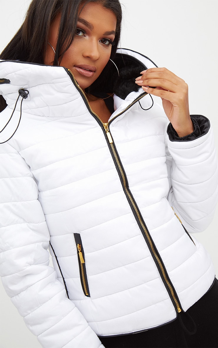 Mara White Puffer Jacket 5