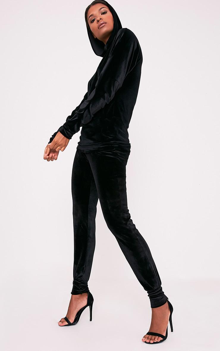 Jannie Black Velvet Joggers 1