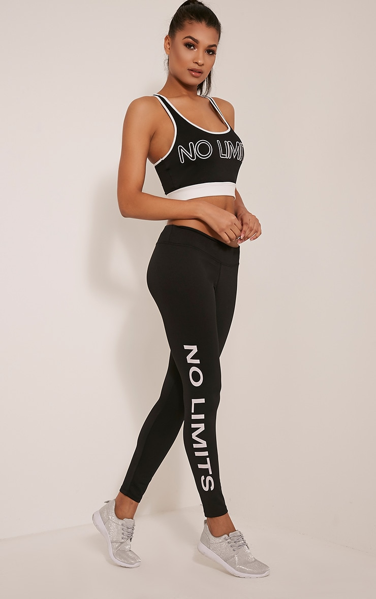 Jaya Black 'No Limits' Gym Leggings 1
