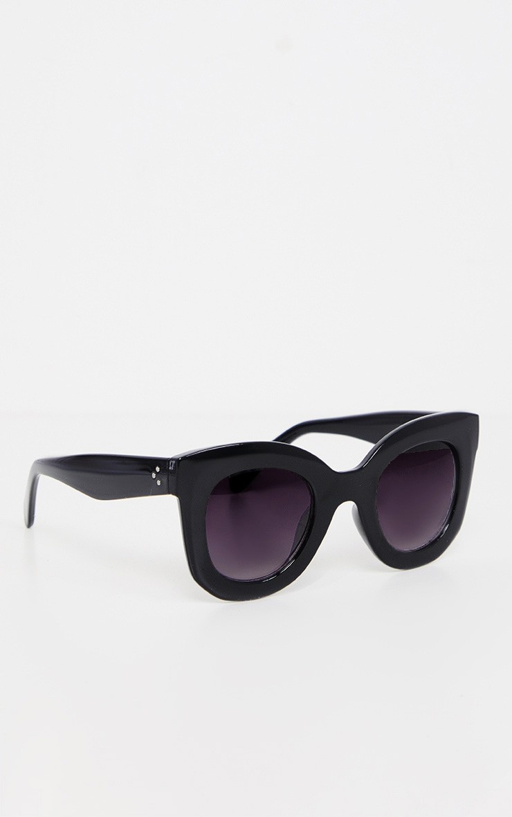 Black Large Frame Sunglasses 3