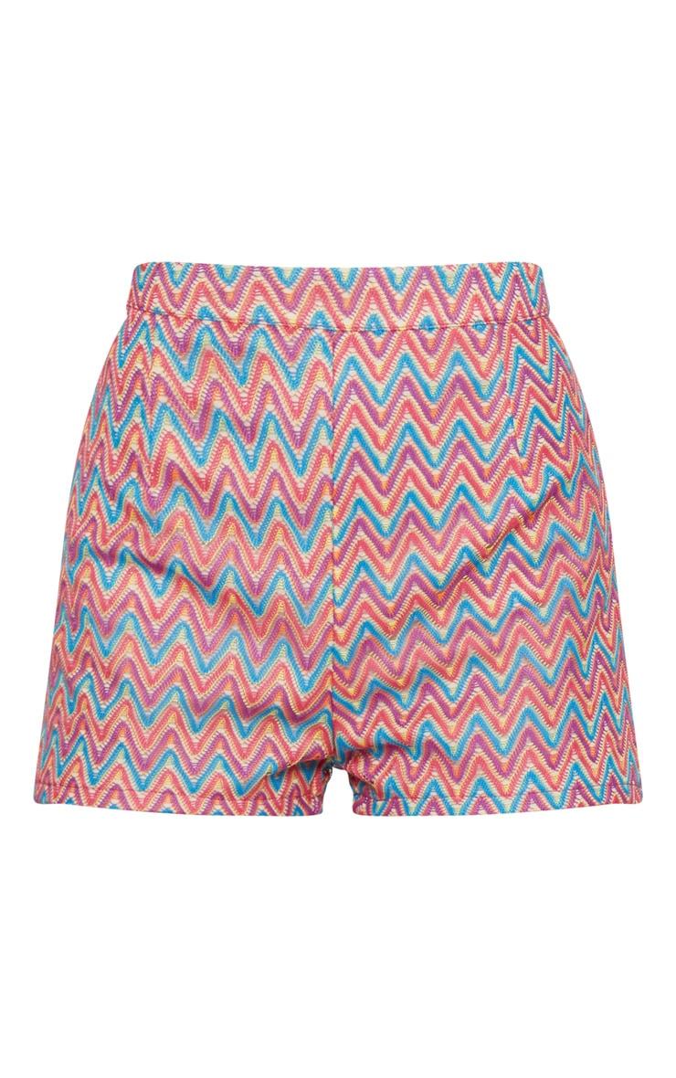 Petite Fuchsia Chevron Shorts 3