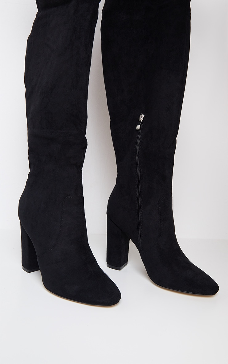 Black Over The Knee Behati Boot 3