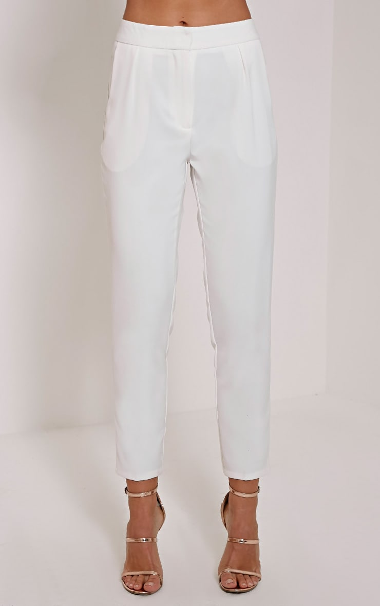 Remy Cream Cigarette Trousers 2