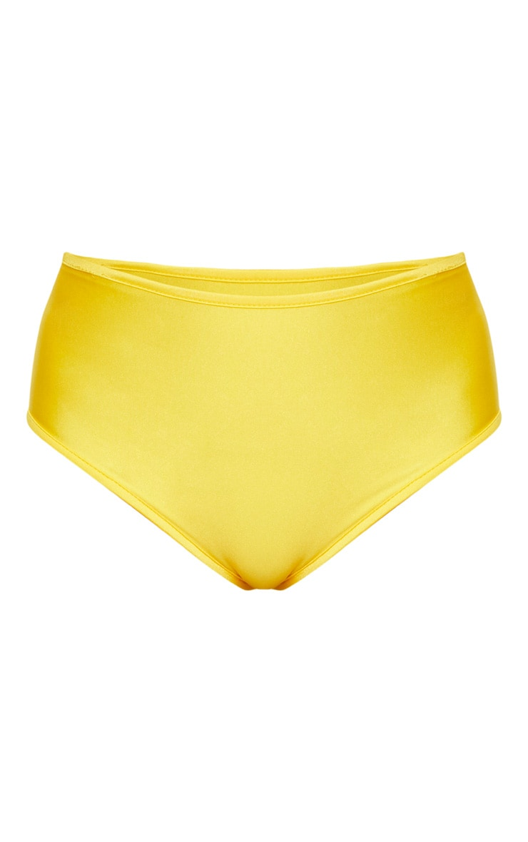 Yellow Mix & Match High Waisted Bikini Bottom 3