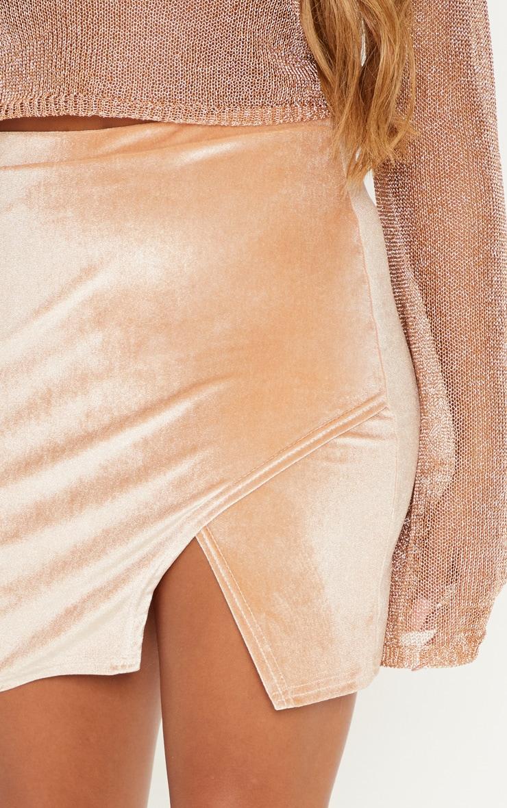 Stone Velvet Split Hem Mini Skirt 6