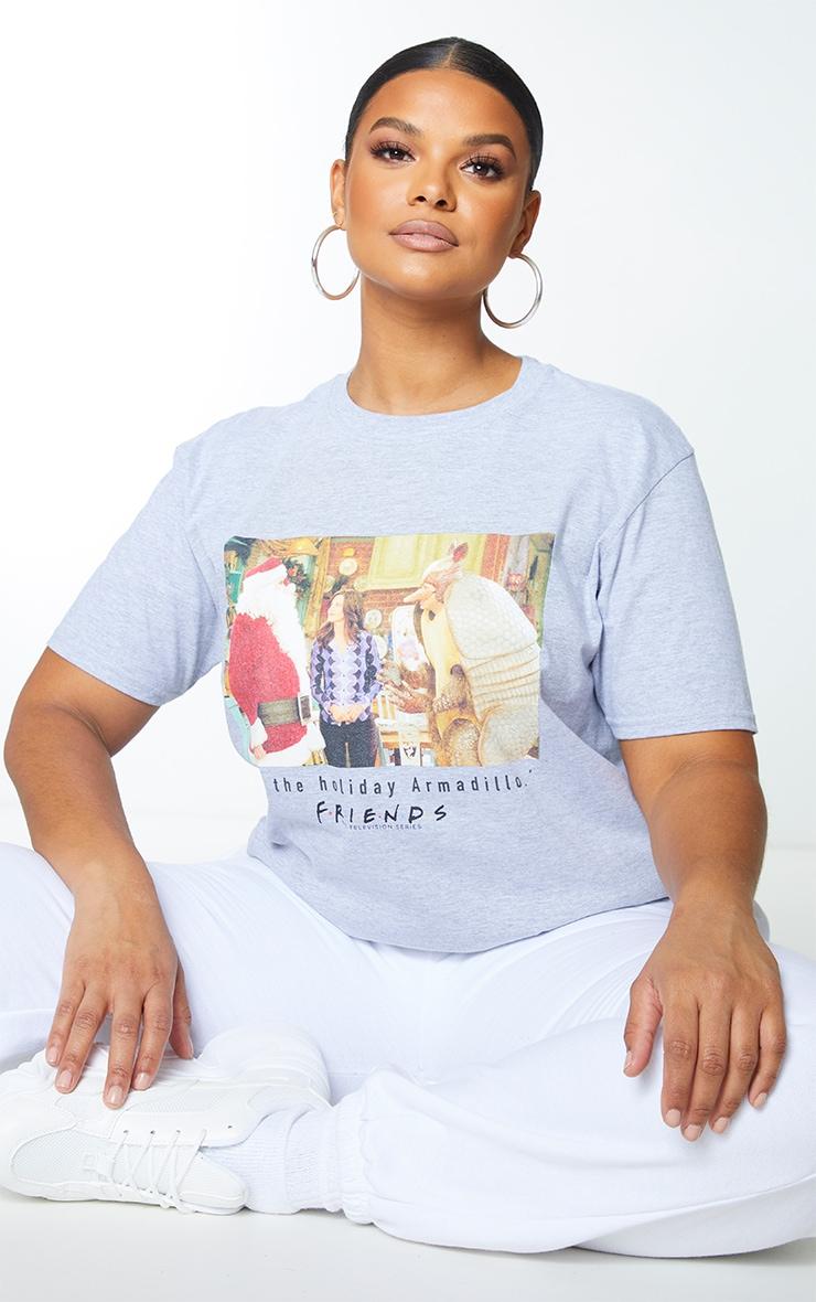 Plus Grey Friends Holiday Armadillo Slogan T Shirt 1