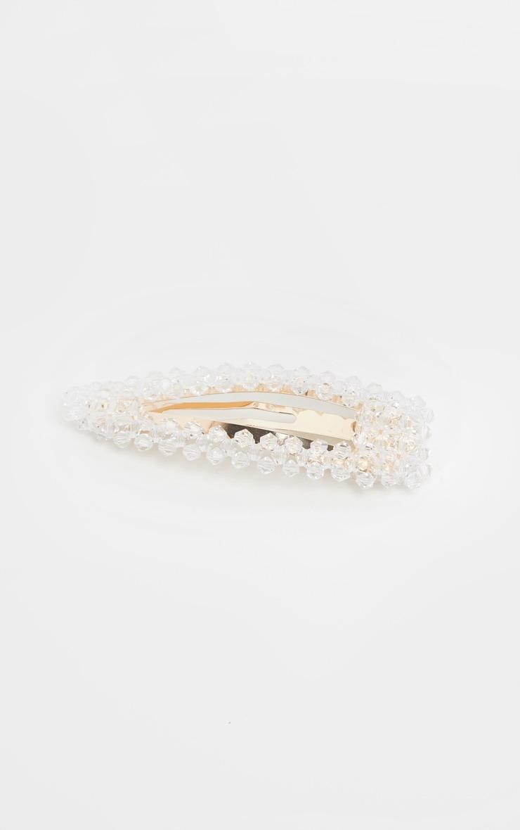 Gold Crystal Beaded Hair Clip 2