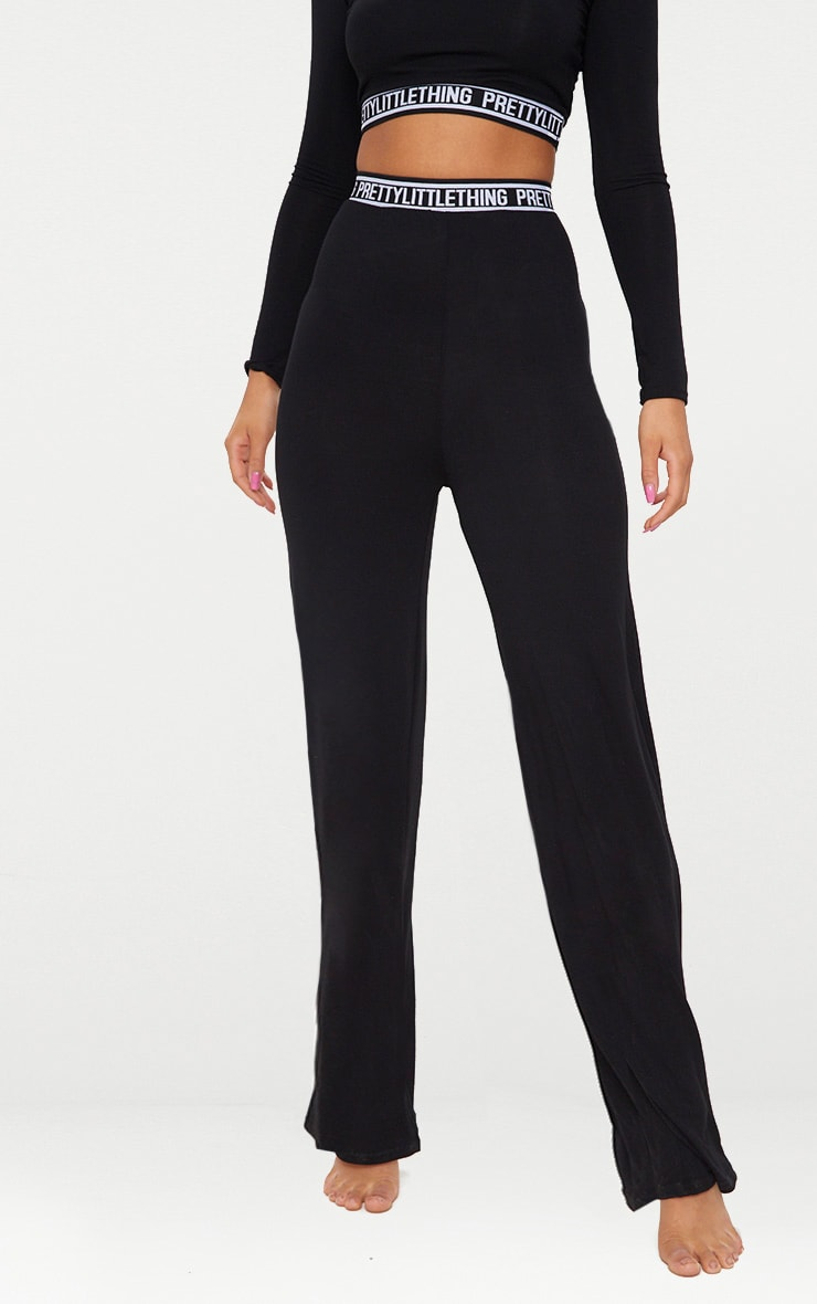 PRETTYLITTLETHING Black PJ Pants 2