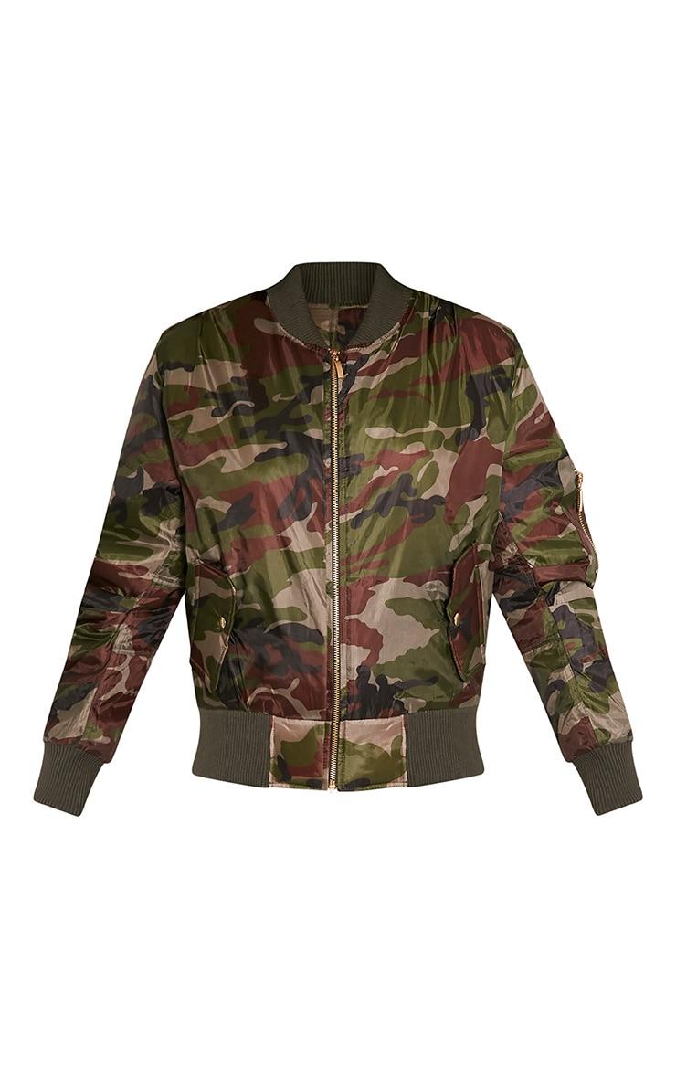 Alexus Green Camouflage Bomber Jacket 3