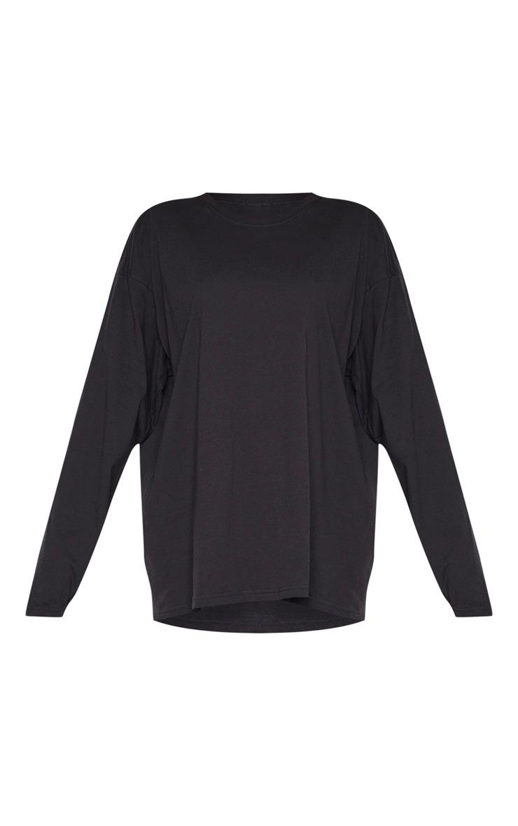 T-shirt manches longues noir à slogan Fearless au dos 3