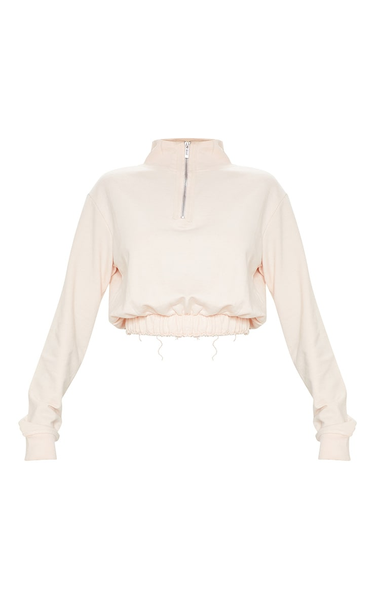 Light Pink Zip Up Sweater 3