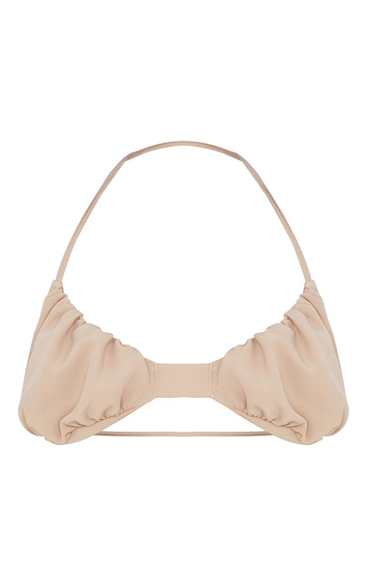 Stone Woven Ruched Detail Bralet 6
