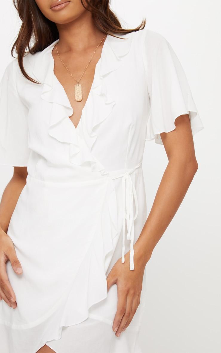 White Wrap Dress 5