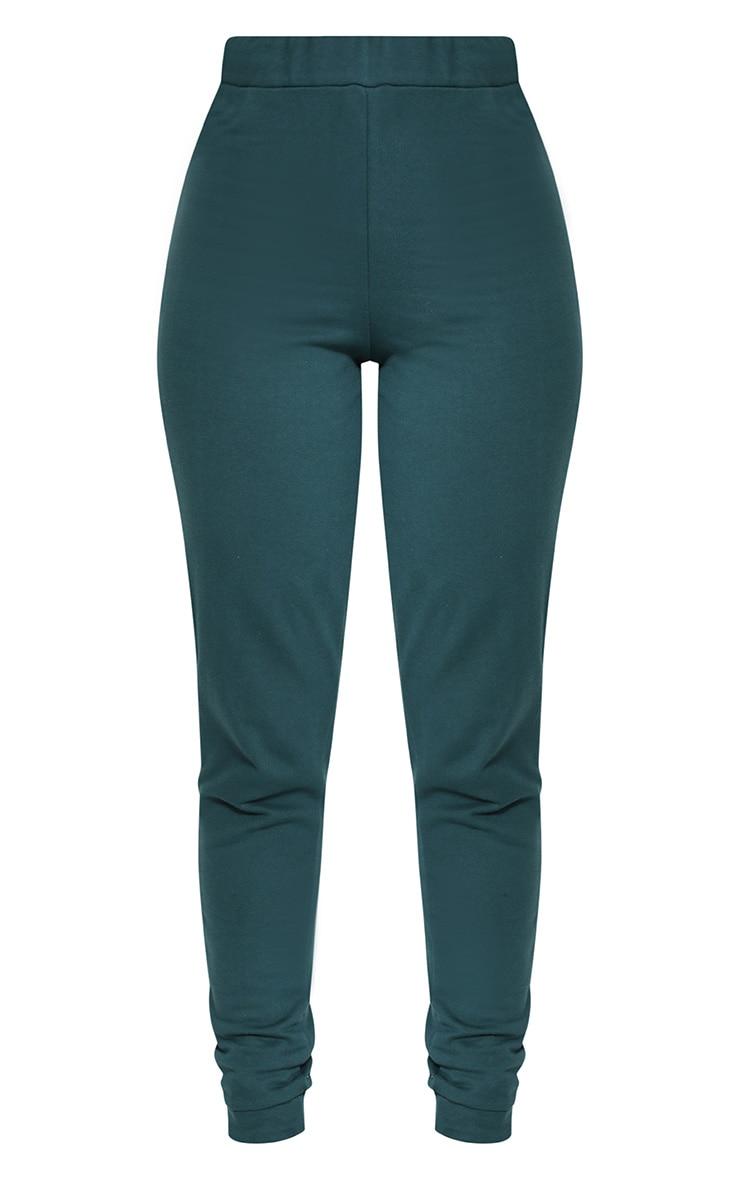 Shape Emerald Green Elastic Bottom Joggers 3