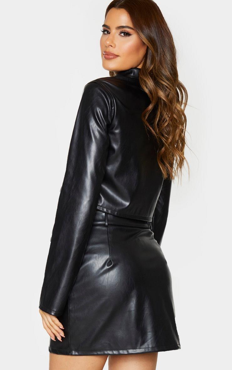 Tall Black Pocket Detail Zip Jacket 2