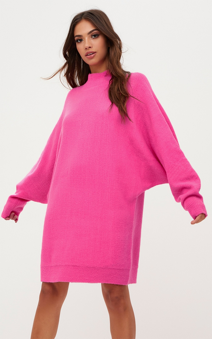 a5e68a1dac4 Pink Oversized Jumper Dress image 1