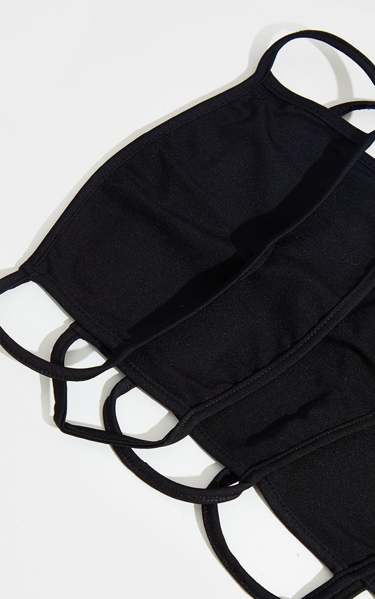 Black 5 Pack Face Mask 3