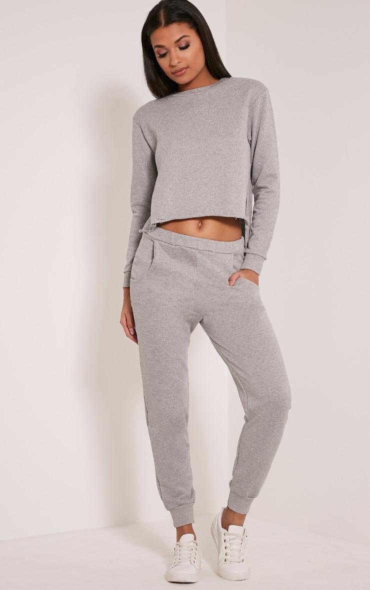 Ellia jogging basique gris 1